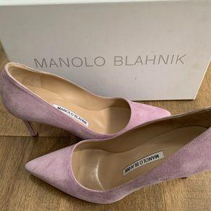 Manolo Blahnik lavender suede pump size 35.5